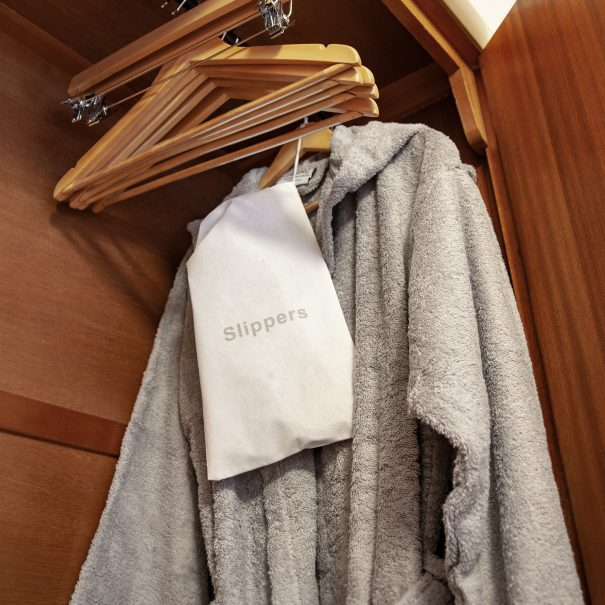 Silver Birch room - dressing gown